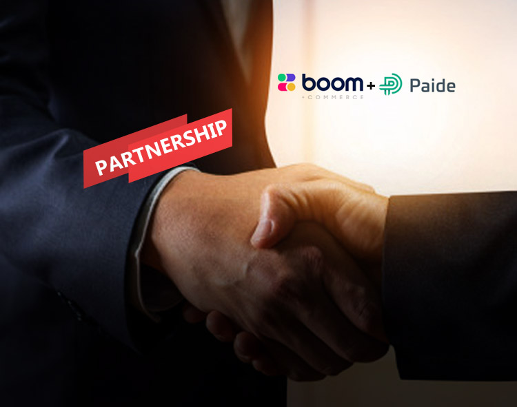 Boom Commerce Completes Financing Transaction and Strategic Partnership with Paide